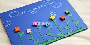 cards for new year handmade new year card simple platter
