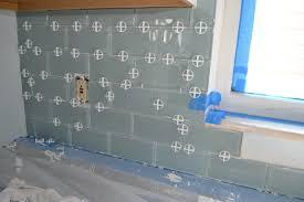 How To Install A Glass Tile Backsplash In The Kitchen Bathroom Simple How To Install Glass Tile Backsplash In Bathroom