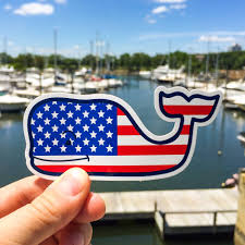 Free American Flag Stickers Vineyard Vines Our American Flag Whale Stickers Are Facebook