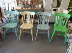 Egg Bistro Chairs Mismatched Chairs Hand Painted In Any Colours Farmhouse Chairs