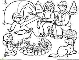 color the family camping trip family camping worksheets and the