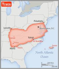 where is yemen on the map the factbook central intelligence agency
