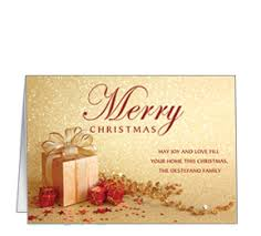 Christmas Cards Business Personalized Christmas Presents Ribbons And Bows Business Cards