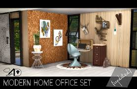Sims 4 Furniture Sets Modern Home Office Set New Meshes Updated Sims 4 Designs