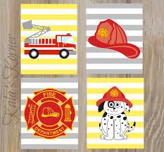 Firefighter Nursery Decor Firefighter Decor Firefighter Decor Firefighter Playroom