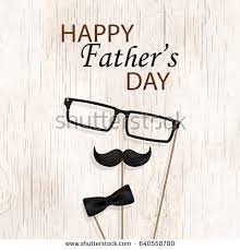 congratulation poster happy fathers day concept design bow stock vector 640558780