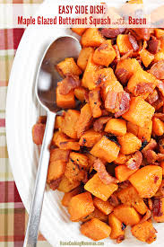 maple glazed butternut squash with bacon recipe home cooking