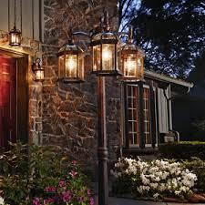 outdoor post light fixtures outdoor post light l rust finish garden yard driveway lpost 3