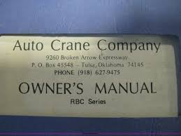 auto crane parts manual the best crane 2017