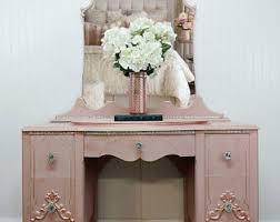 Pink Vanity Table Pink Vanity Etsy