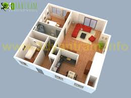 Floor Plan Software 3d 3d Simple House Plans Designs Basic Floor Plan Top View 3 Bedroom