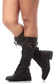 women s lace up biker boots black faux leather lace up calf length boots cicihot boots