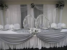 wedding backdrop on a budget a simple high table and backdrop decoration we did silver themed