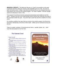 Sample Memorial Programs Memorial Day Essay Contest Graphic Organizer Introduction