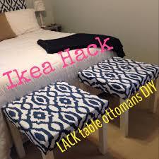 ikea hack u2013 lack tables into ottomans