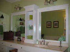 Large Bathroom Mirror Framing Mirror Using Crown Molding And Spray Paint So Much