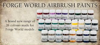 new airbrush paints by forge world bell of lost souls