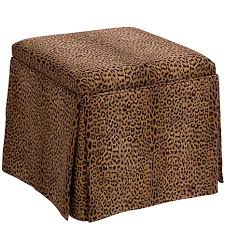 Animal Print Storage Ottoman Skirted Storage Ottoman Cheetah Print 8259836 Hsn