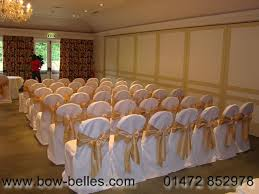 ivory chair covers wedding chair cover hire
