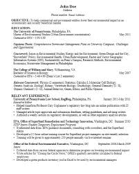 Sample Resume Undergraduate by Career Services At The University Of Pennsylvania