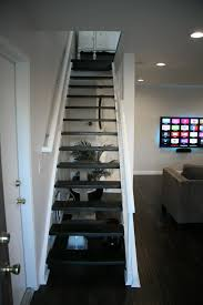 first home renovation floating stairs wall wood and minwax
