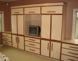 Small Bedroom Storage Cabinet Closet Drawers Walmart Wall Of Builtin Cabinets Provides Plenty