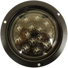 round led lights for jeep amazon com autosmart kl 25105c r red flush mount led stop turn tail