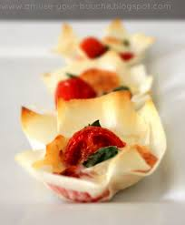 canape cups recipes margherita pizza cups amuse your bouche