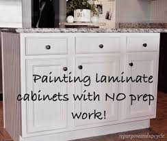 best laminate kitchen cupboard paint painting laminate cabinets the right way without sanding