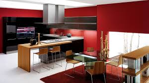 modern black kitchen astounding red and black kitchen decor design decorating ideas
