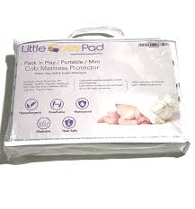crib mattress topper little one u0027s pad pack n play crib mattress cover fits all baby