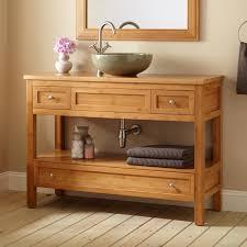 vanity with open shelf and drawers charming open shelf bathroom