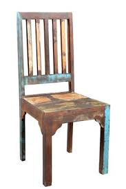 Reclaimed Wood Chairs Timbergirl Reclaimed Wood Rustic Multicolor Chair Set Of 2 Timbergirl