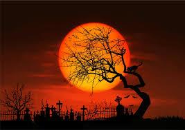 clipart midnight graveyard silhouette
