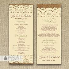 sided wedding programs 26 best digibuddha menus wedding programs images on