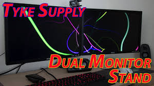 tyke supply dual monitor stand unboxing review youtube