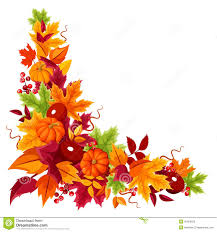 pumpkin no background corner background with pumpkins and colorful autumn leaves vector