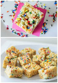 cake batter rice krispie treats sallys baking addiction