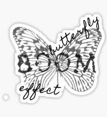 butterfly effect design illustration stickers redbubble