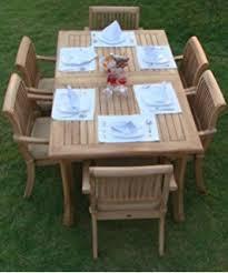 Wholesale Teak Patio Furniture Amazon Com New 9 Pc Luxurious Grade A Teak Dining Set 94