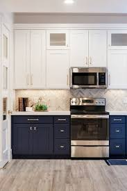 navy blue and white kitchen cupboards navy cabinets popular cabinet color trend kitchen