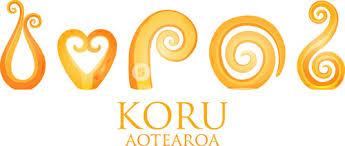 a set of glass maori koru curl ornaments royalty free stock image