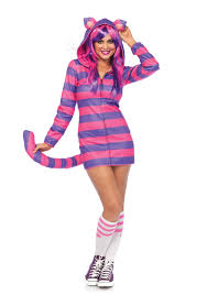 leg avenue 85553 cozy cheshire cat wonderland costume dress up