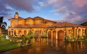 tuscan style mansion home