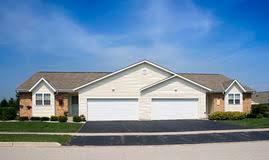 blue duplex housing stock photo image 87166050