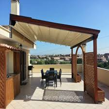 Pergola Retractable Canopy by Led Light Motorized Retractable Awnings Led Light Motorized
