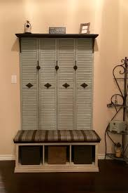 Mudroom Hall Tree by Diy Hall Tree 4 Old Shutter Closet Doors Someone Was Throwing