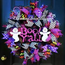 boo spiral deco mesh wreath by adoorablecreations05 on etsy