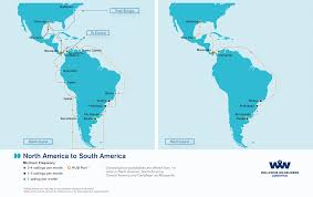 Map Of South America And North America by Overseas Shipping Route Maps L Wallenius Wilhelmsen Logistics