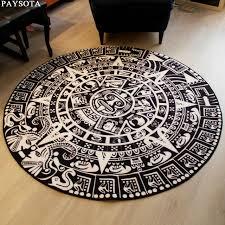 canap entr e paysota totem noir blanc rond tapis entrée thé table canapé